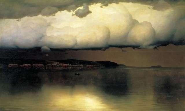 Николай Дубовской. Притихло. 1890
