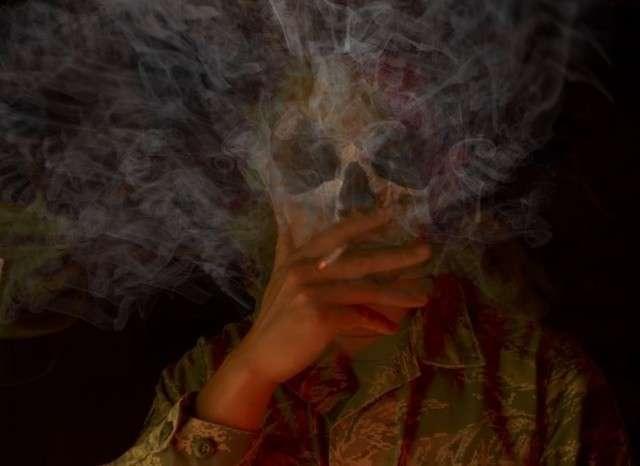 Дым рассеивается