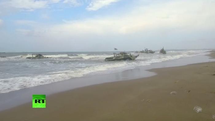 Морская пехота ВМФ России отработала высадку на побережье Сирии