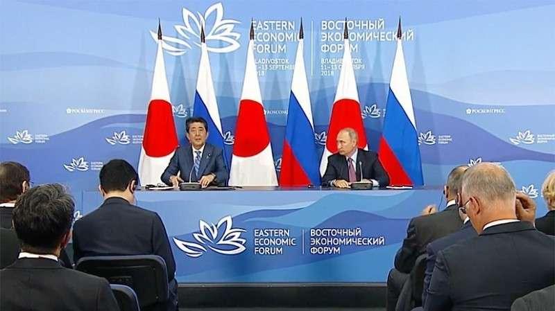 Владимир Путин на пресс-конференции с Синдзо Абэ: отношения держав постепенно развиваются
