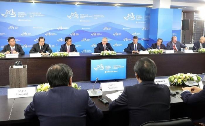Встреча Владимира Путина спредставителями зарубежных деловых кругов