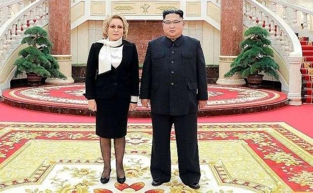Встреча Валентины Матвиенко с Председателем Государственного совета КНДР Ким Чен Ыном
