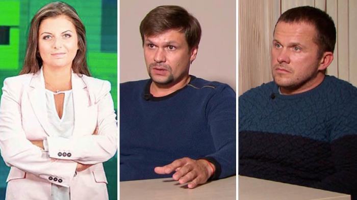 Обвиняемые британцами по делу Скрипалей Петров и Боширов дали интервью Маргарите Симоньян