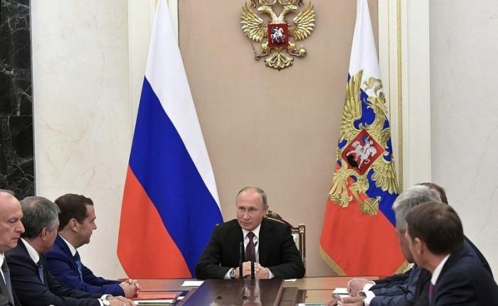 Владимир Путин провёл совещание с постоянными членами СБ по ситуации в Сирии и итогам ВЭФ