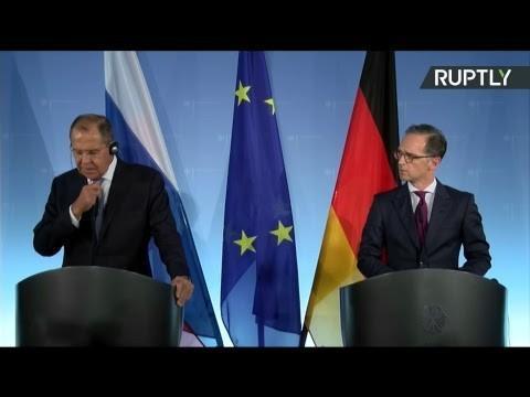 Пресс-конференция Сергея Лаврова и министра иностранных дел Германии Хайко Мааса