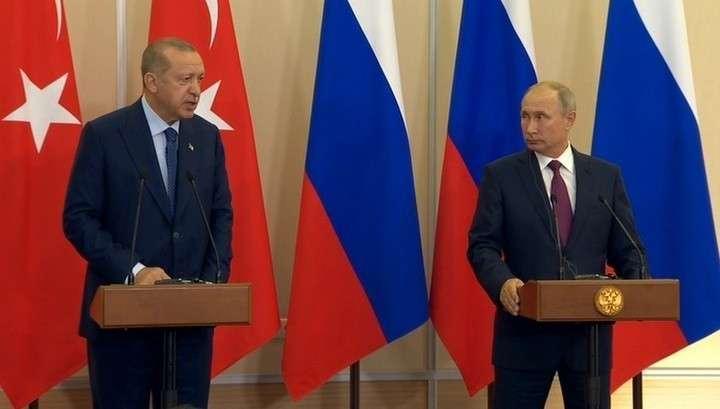 Путин и Эрдоган договорились создать в Идлибе демилитаризированную зону