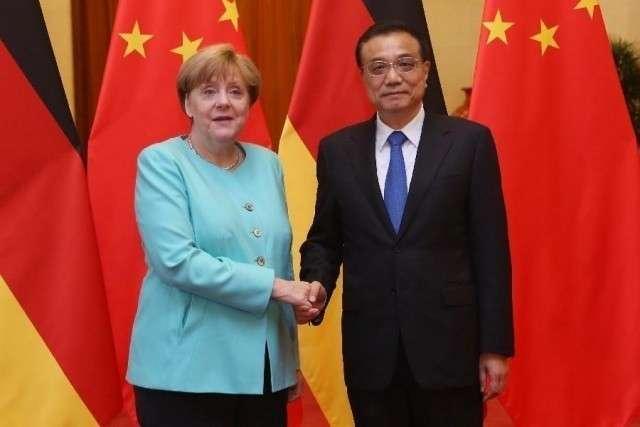 Ли Кэцян и Ангела Меркель
