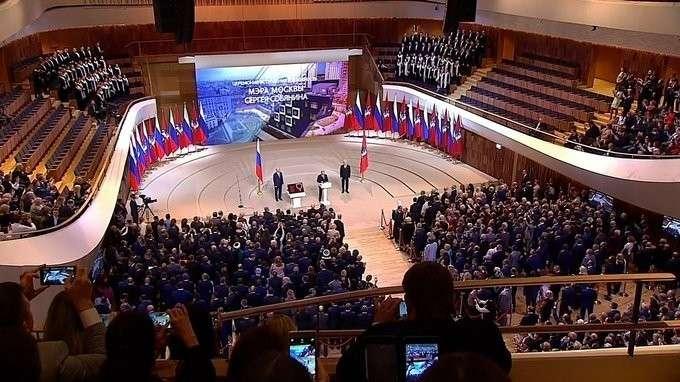 Выступление наторжественной церемонии вступления Сергея Собянина вдолжность мэра Москвы