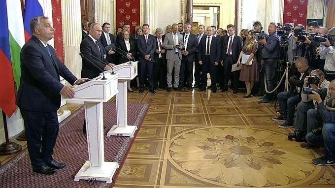 Пресс-конференция поитогам российско-венгерских переговоров