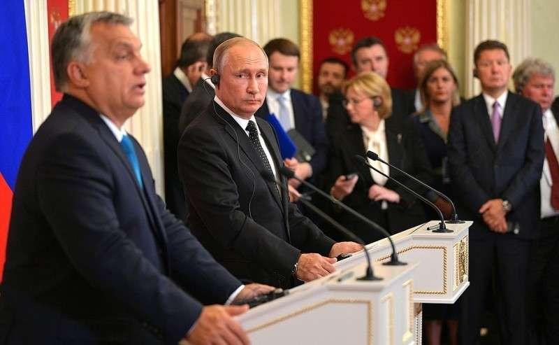 Пресс-конференция поитогам российско-венгерских переговоров.