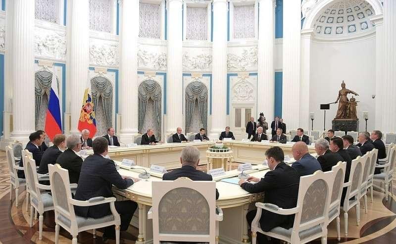 Встреча сизбранными главами субъектов Российской Федерации.