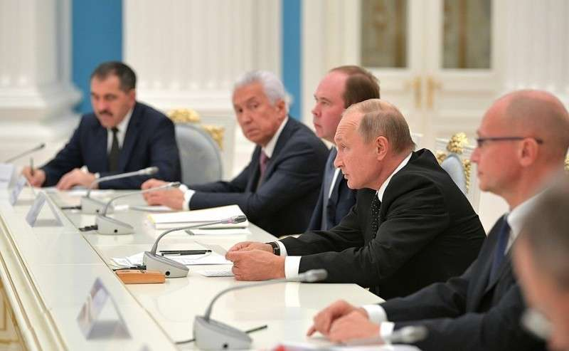 Навстрече сизбранными главами субъектов Российской Федерации.