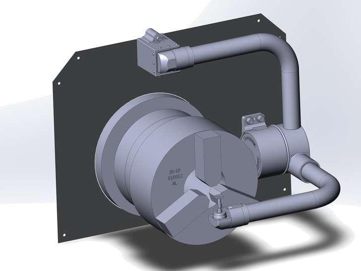 Установка руки измерения инструмента на токарный с ЧПУ конструкторская проработка