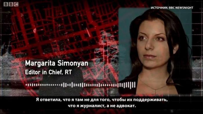 Симоньян рассказала BBC об интервью с Петровым и Бошировым