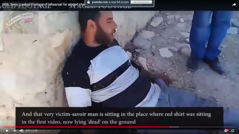 Сирия: видео со съемок постановочной «химатаки» попало в сеть