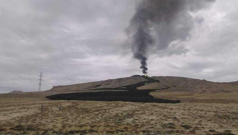 В Азербайджане проснулся один из крупнейших в мире грязевой вулкан Отман-Боздаг