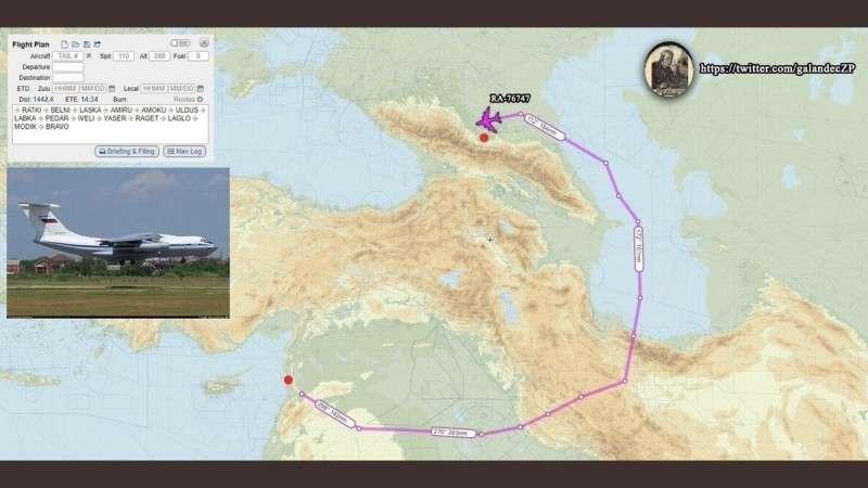 Сирия, Хмеймим. Еще 6 Ил-76МД и 8 истребителей Су-30СМ и Су-35 на базу