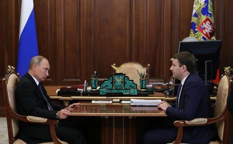 Владимир Путин провёл рабочую встречу с главой Минэкономразвития Максимом Орешкиным