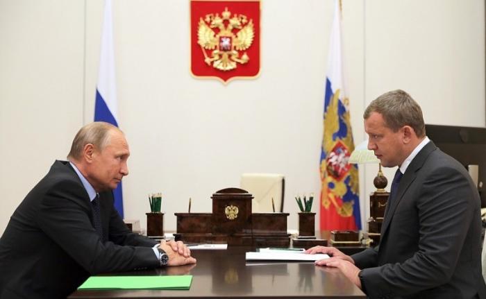 Владимир Путин назначил Сергея Морозова врио губернатора Астраханской области
