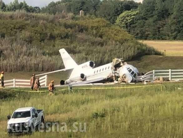ВСШАприпосадке развалился реактивный самолёт: пилоты мертвы (ФОТО, ВИДЕО) | Русская весна