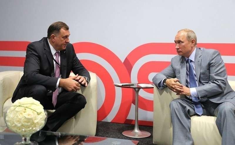 Встреча сПрезидентом Республики Сербской Боснии иГерцеговины Милорадом Додиком.