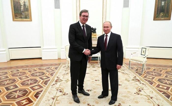 Владимир Путин встретился с Президентом Республики Сербия Александром Вучичем