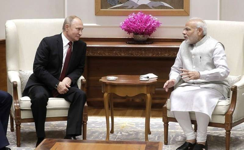 Встреча Владимира Путина с Премьер-министром Индии Нарендрой Моди в Нью-Дели