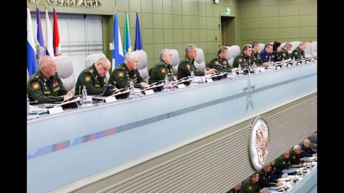 Сергей Шойгу провёл селекторное совещание с руководством Вооруженных Сил 5.10.2018