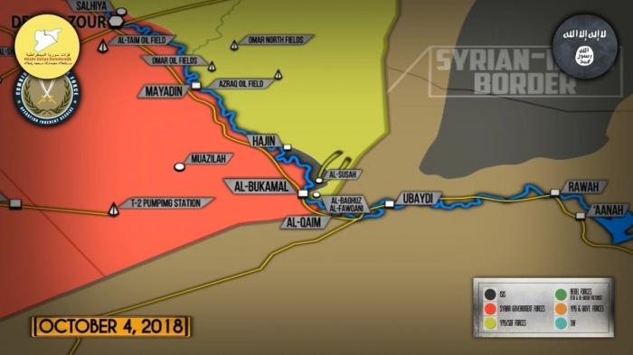 Сирия. Бои между наёмниками США возле Евфрата