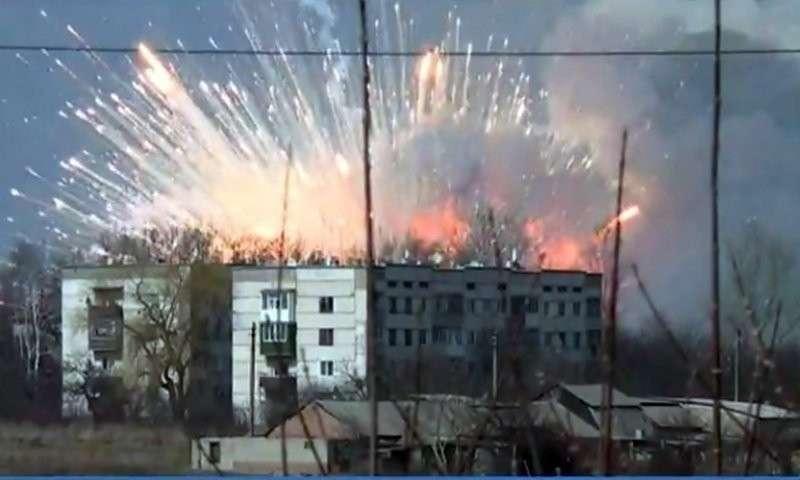 Украина. Взрыв на военном складе под Черниговом
