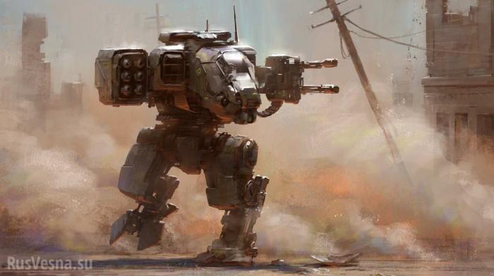 Россия. Боевой робот с реактивными снарядами