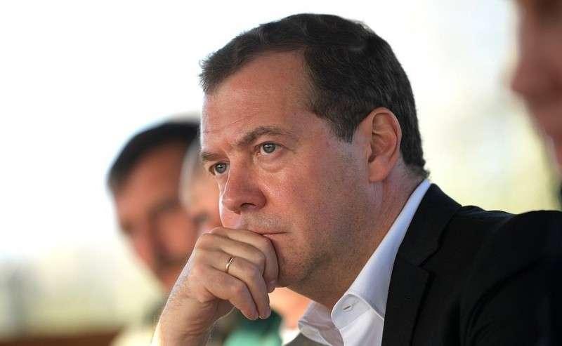 Председатель Правительства Дмитрий Медведев навстрече сработниками сельскохозяйственного предприятия «Рассвет».