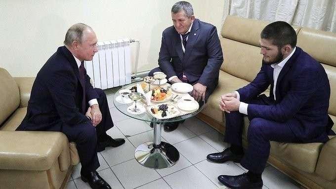 Встреча сроссийским борцом Хабибом Нурмагомедовым