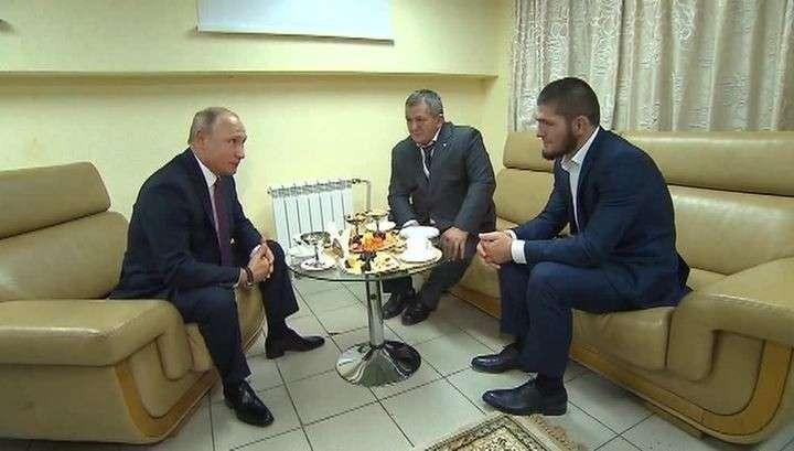 Владимир Путин утешил драчуна Хабиба Нурмагомедова