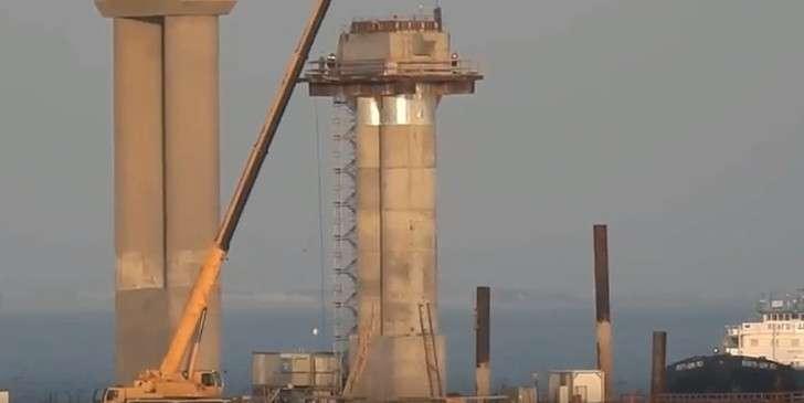 Последняя опора Крымского моста готова