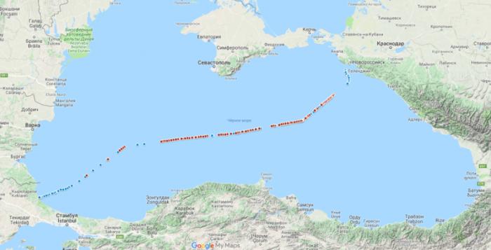 Турецкий поток. До окончания прокладки второй ветки по дну Черного моря чуть больше месяца