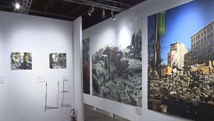 В Нью-Йорке неизвестные разгромили выставку о событиях на Украине