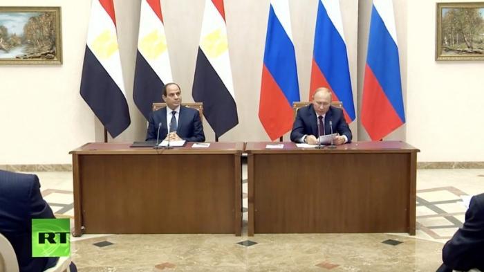 Владимир Путин и президент Египта Абдель Фаттаха ас-Сиси подвели итоги переговоров