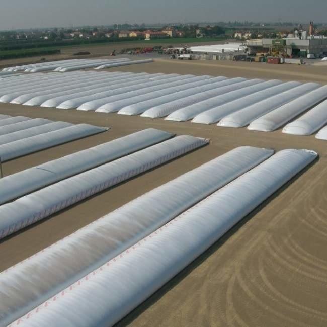 Калужская птицефабрика внедрила инновационную технологию хранения зерна воткрытом поле