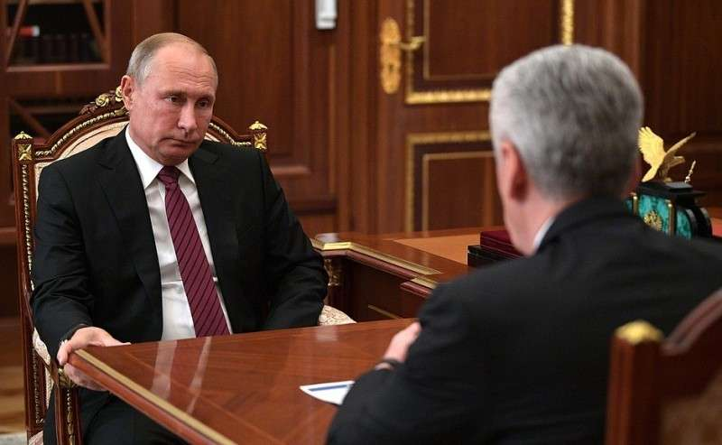 Владимир Путин провёл рабочую встречу с мэром Москвы Сергеем Собяниным 22.10.2018