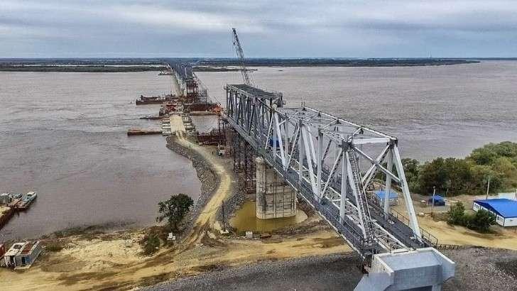 Большие железнодорожные мосты, строящиеся сейчас в России
