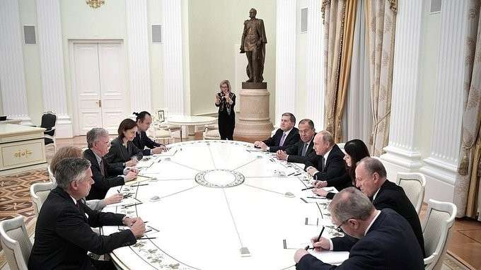 Встреча спомощником Президента США понацбезопасности Джоном Болтоном