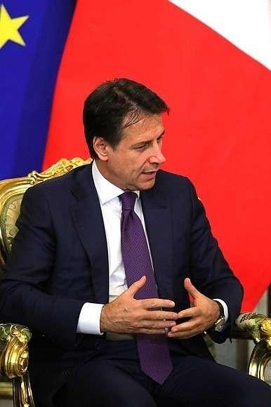 Председатель Совета министров Итальянской Республики Джузеппе Конте.