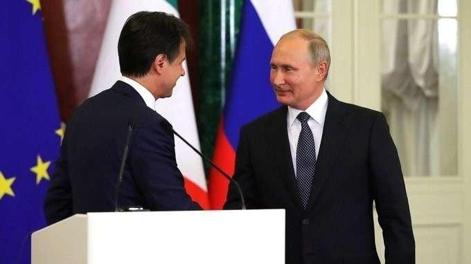 Пресс-конференция поитогам российско-итальянских переговоров