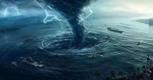 На Гавайях мощным ураганом полностью «смыло» остров