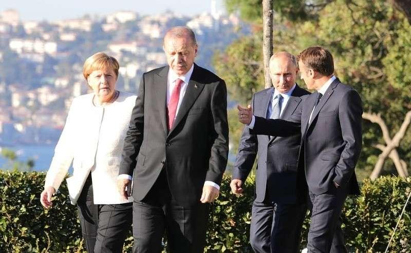 Путин, Эрдоган, Меркель и Макрон начали в Стамбуле переговоры по Сирии