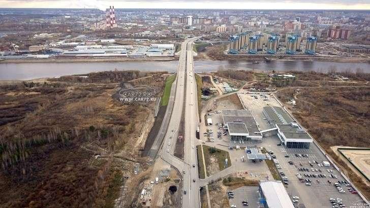 В г.Тюмени открыто движение поновому «Совмещённому» мосту через р.Туру