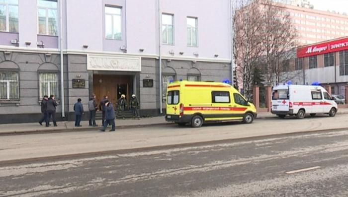 Видео с места теракта у здания ФСБ в Архангельске