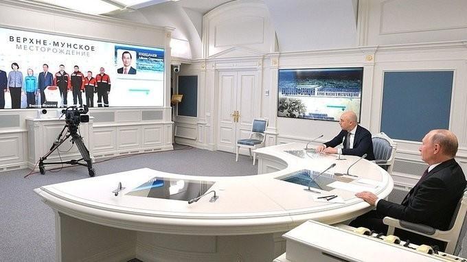 Путин принял участие в вводе вэксплуатацию алмазного месторождения Верхне-Мунское