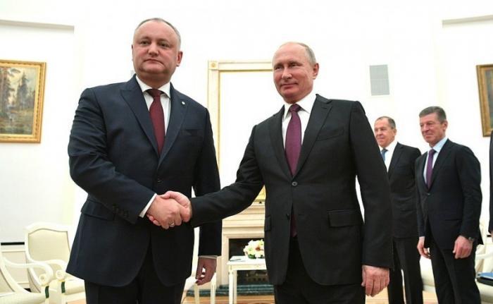 Владимир Путин провёл переговоры сПрезидентом Молдовы Игорем Додоном 31.10.2018